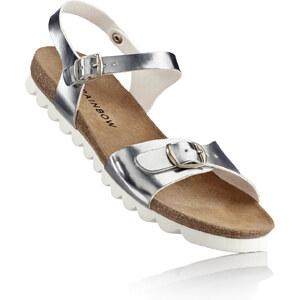 RAINBOW Sandale in grau von bonprix