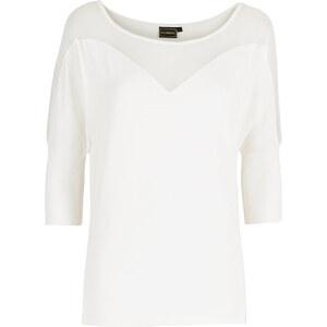 RAINBOW Shirt mit Netz-Einsatz 3/4 Arm in weiß für Damen von bonprix