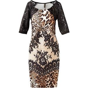 BODYFLIRT boutique Kleid in Scubaoptik halber Arm in schwarz von bonprix