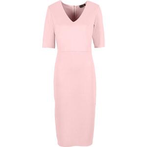 BODYFLIRT Scuba Kleid/Sommerkleid in rosa von bonprix