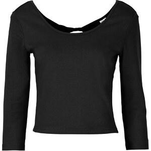 RAINBOW Kurz-Shirt 3/4 Arm in schwarz (Rundhals) für Damen von bonprix