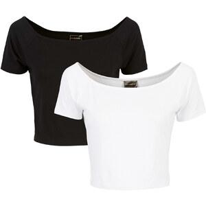 RAINBOW Shirt 2er-Set kurzer Arm in schwarz für Damen von bonprix
