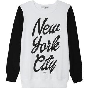 "Tally Weijl Schwarz-weißes Sweatshirt mit ""NYC""-Print"