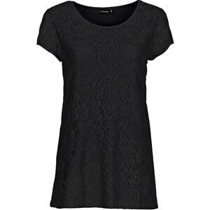 BODYFLIRT Spitzenshirt in schwarz für Damen von bonprix
