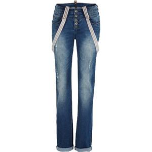 RAINBOW Jeans mit Hosenträgern in blau für Damen von bonprix