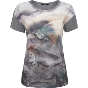 Oui T-Shirt mit großem Print