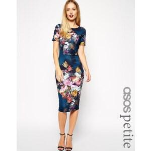 ASOS PETITE Floral Print Scuba Bodycon Dress - Multi