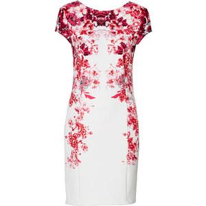 BODYFLIRT Shirtkleid/Sommerkleid kurzer Arm figurbetont in weiß (Rundhals) von bonprix