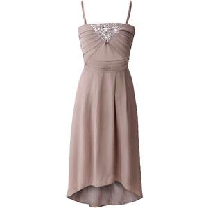 BODYFLIRT Abendkleid ohne Ärmel in beige von bonprix