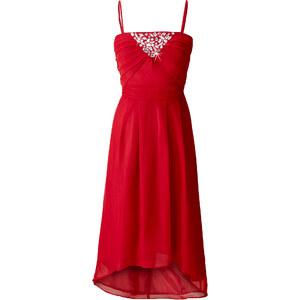 BODYFLIRT Abendkleid ohne Ärmel figurbetont in rot von bonprix
