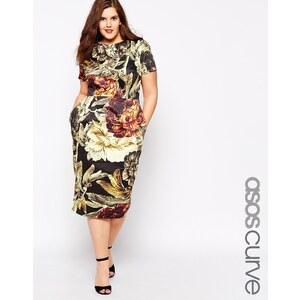 ASOS CURVE - Wiggle - Kleid mit Blumen - Druck