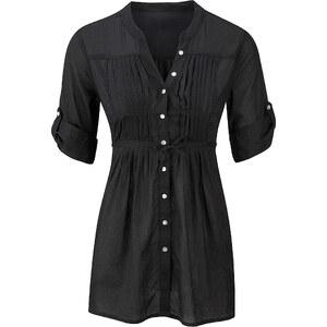 BODYFLIRT Bluse 3/4 Arm in schwarz (V-Ausschnitt) von bonprix