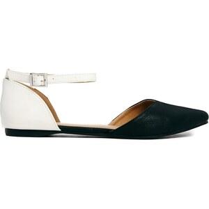 Oasis - Zweiteilige, flache Schuhe in Schwarz-weiß - Schwarz-weißes