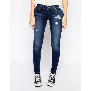 Pull&Bear - Skinny-Jeans im Used-Look - Blau