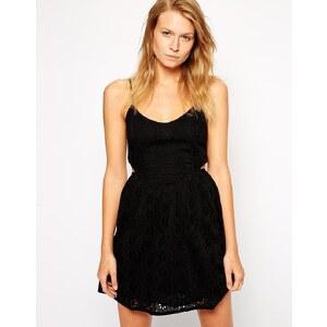 ASOS Broderie Cut Out Beach Dress - Black