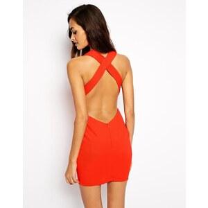 AQ/AQ Convince Figurbetontes Minikleid mit tiefem Ausschnitt und freiem Rücken - Orange