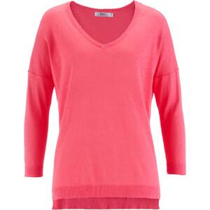 bpc bonprix collection Strick-Pullover, 3/4 Arm in pink für Damen von bonprix