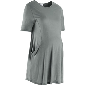 bpc bonprix collection Umstandsmoden Zipfelshirt, halbarm in grau für Damen von bonprix