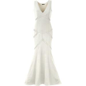 Kleid mit Cut-outs ohne Ärmel in weiß von bonprix