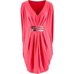 bpc selection premium Premium Shirtkleid mit Stickerei/Sommerkleid kurzer Arm in pink von bonprix
