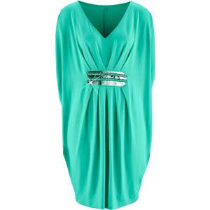 bpc selection premium Premium Shirtkleid mit Stickerei/Sommerkleid kurzer Arm in grün von bonprix
