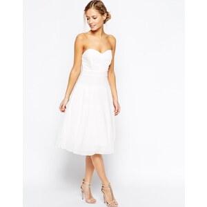 TFNC - Debutant - Mittellanges Kleid - Cremeweiß