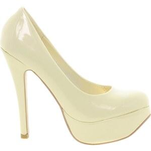 Sugarfree Shoes Sugarfree Bowie Champagne Heeled Shoe