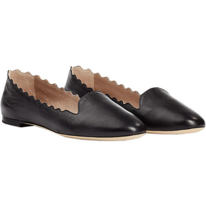 Chloé Lauren Scalloped Leather Loafers