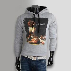 Lesara Herren-Sweatshirt mit Muhammad Ali-Motiv - Grau - L