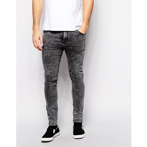 ASOS - Superenge Jeans in Grellgrau - Grau