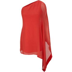 Kleid langarm figurbetont in rot von bonprix