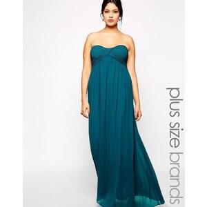 Truly You - Trägerloses Maxikleid in griechischem Stil - Smaragdgrün