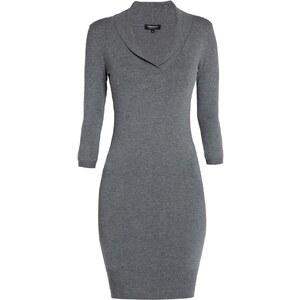 Morgan Kleid mit kurzem Schnitt - grau meliert