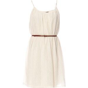 Vila Kleid mit Pluder-Effekt - elfenbein