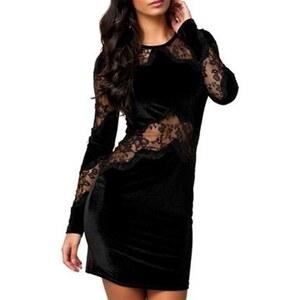 Chic Dresses Robe en dentelle - noir