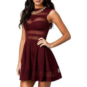 Chic Dresses Robe cocktail - bordeaux