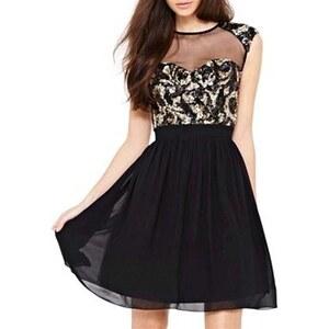 Chic Dresses Kleid mit kurzem Schnitt - schwarz