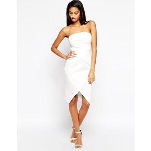 ASOS - Asymmetrisches, trägerloses Kleid mit Falteneffekt - Schwarz 26,99 €