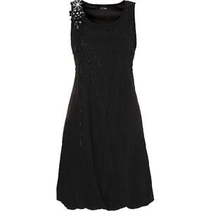 BODYFLIRT Kleid figurumspielend in schwarz (Rundhals) von bonprix