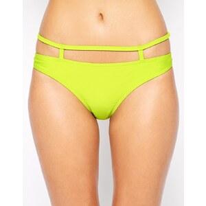 ASOS - Bikinihose mit Riemendesign - Chartreuse Grün