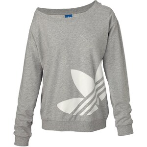 ADIDAS ORIGINALS Sweatshirt, Logo-Print, Rippbündchen