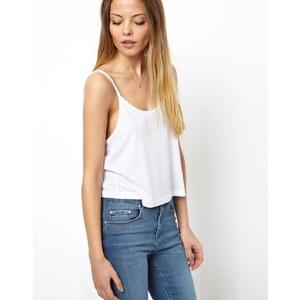 ASOS - Kurzes Camisole mit U-Ausschnitt - Weiß