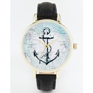 ASOS - Uhr mit Anker-Karten-Design - Mehrfarbig