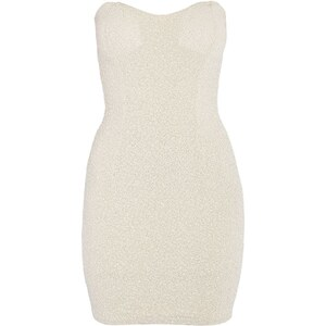 Morgan Robe bustier strass - strassée blanche