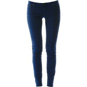 Mystic Gemusterte Jeans - blau