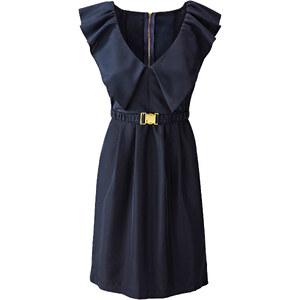 BODYFLIRT Kleid/Sommerkleid ohne Ärmel figurumspielend in blau (V-Ausschnitt) von bonprix