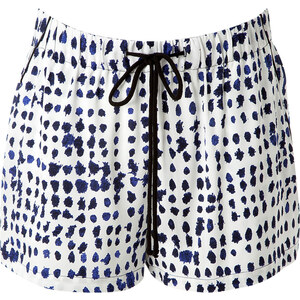 Milly Silk Printed Shorts