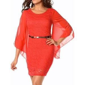 RDV à Paris Louise - Minikleid aus Spitze - rot