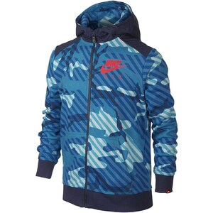 Nike Camo Full-Zip - Sweat à capuche - bleu