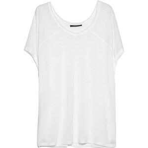 MANGO T-Shirt Mit Ungesäumtem Rand